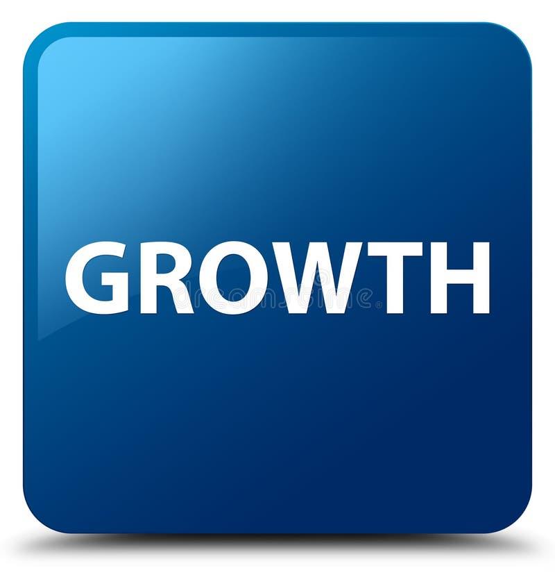 De groei blauwe vierkante knoop royalty-vrije illustratie