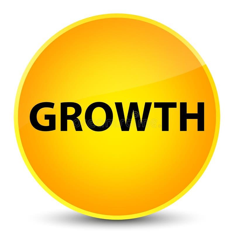 De groei elegante gele ronde knoop stock illustratie