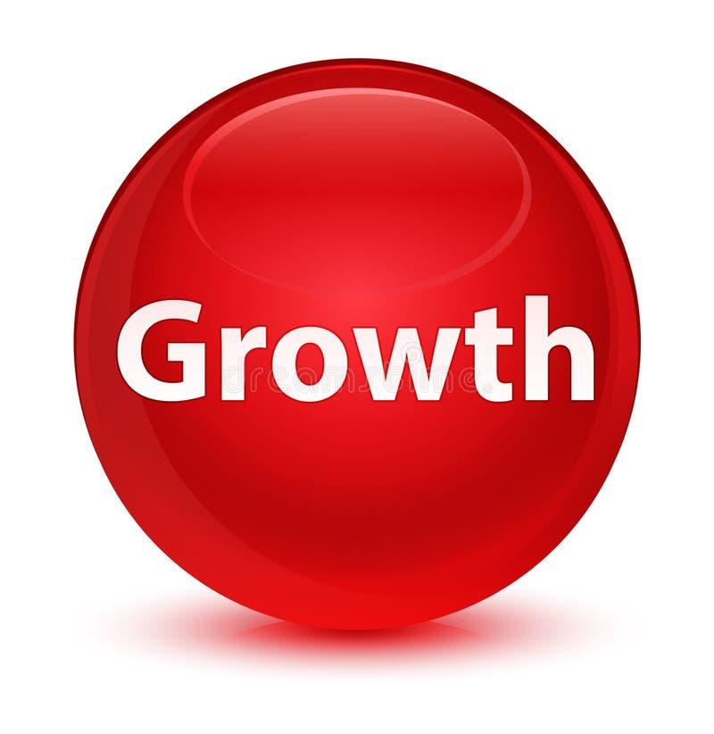 De groei glazige rode ronde knoop vector illustratie