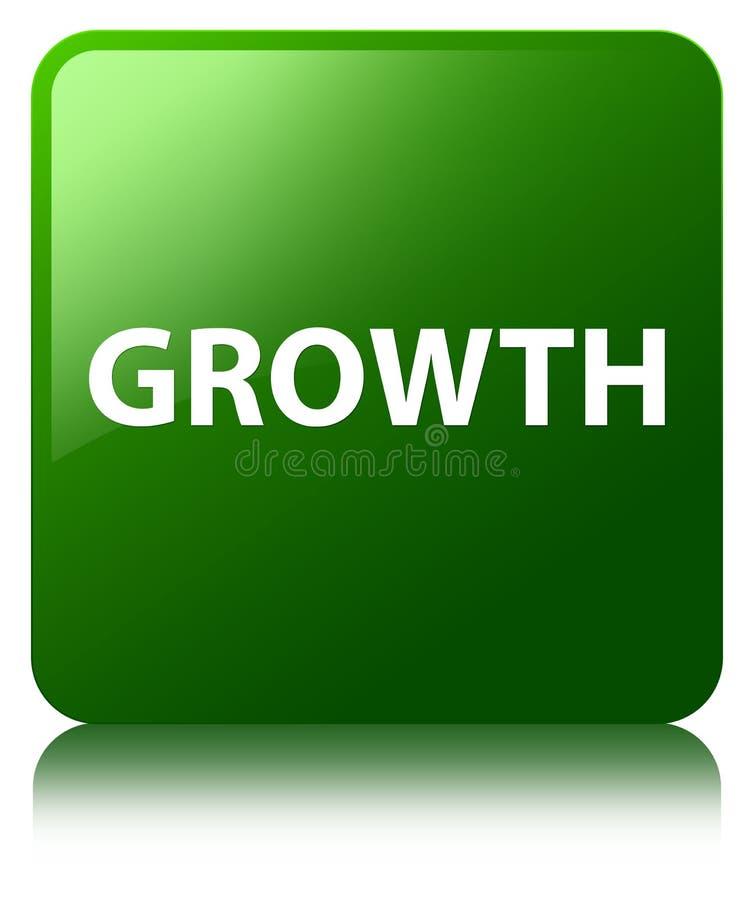 De groei groene vierkante knoop stock illustratie