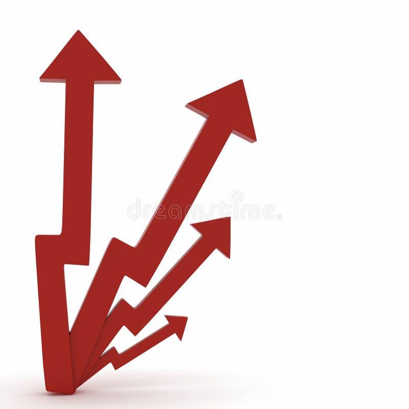 de groei/heft/deelt markt op stock illustratie