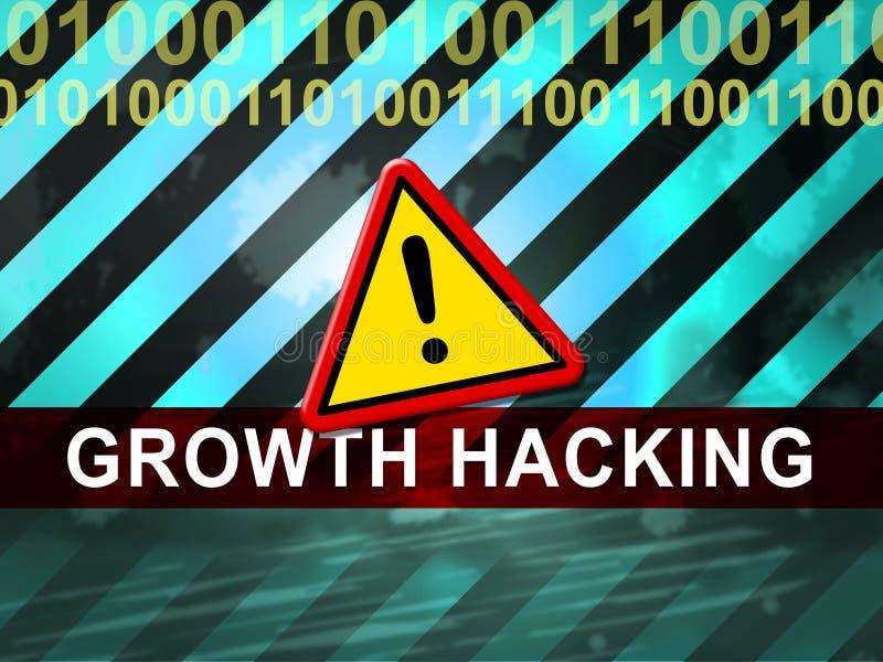 De groei het Binnendringen in een beveiligd computersysteem de Websiteverbetering Tactiek 2d Illustratie vector illustratie