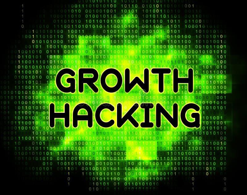 De groei het Binnendringen in een beveiligd computersysteem de Websiteverbetering Tactiek 2d Illustratie royalty-vrije illustratie