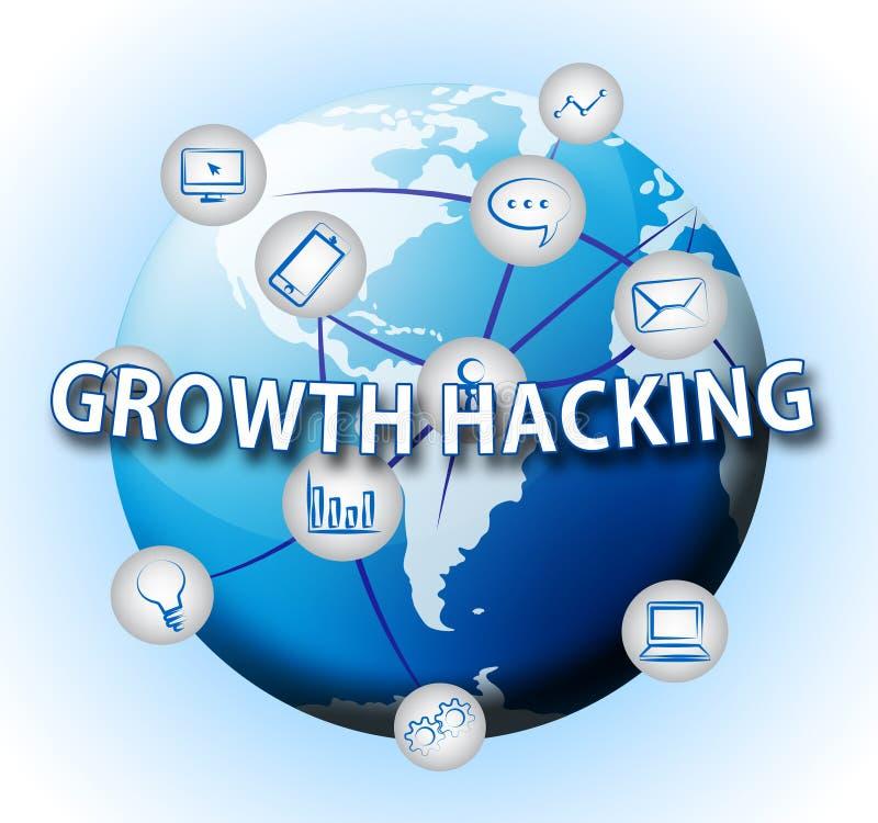 De groei het Binnendringen in een beveiligd computersysteem de Websiteverbetering Tactiek 3d Illustratie vector illustratie