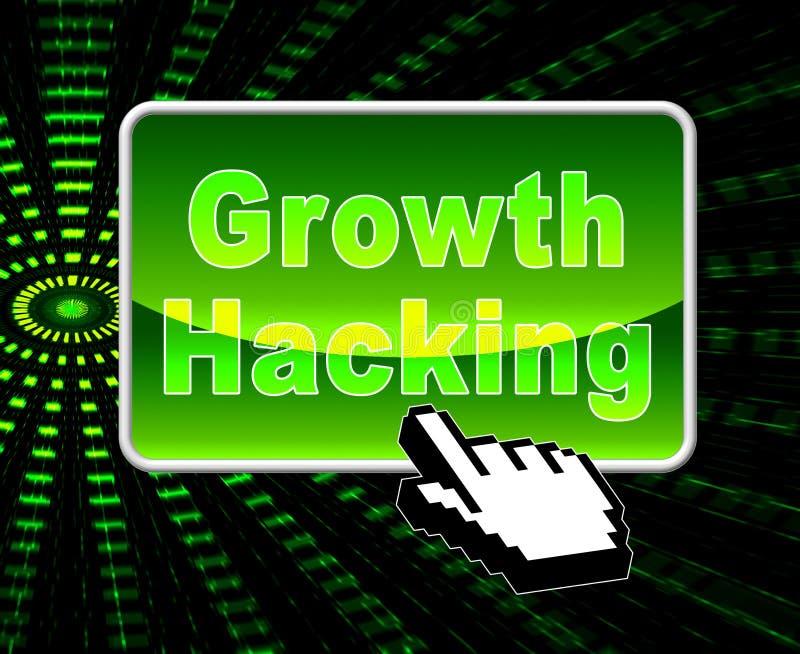 De groei het Binnendringen in een beveiligd computersysteem de Websiteverbetering Tactiek 3d Illustratie royalty-vrije illustratie