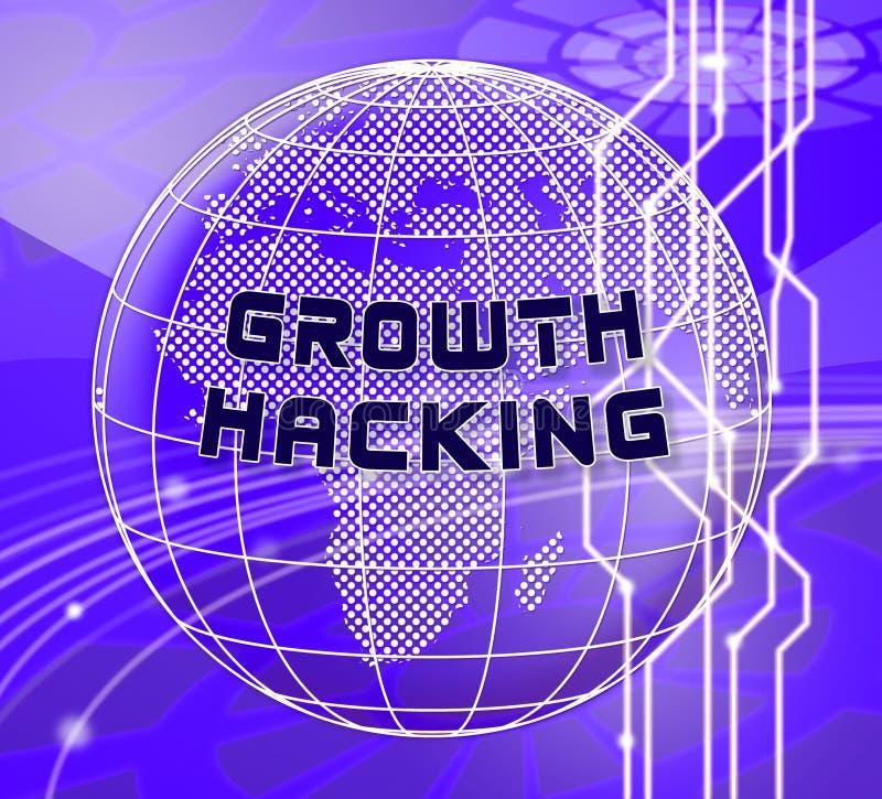 De groei het Binnendringen in een beveiligd computersysteem de Websiteverbetering Tactiek 3d Illustratie stock illustratie