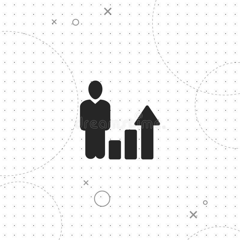 De groei, het stijgen, vector beste vlak pictogram vector illustratie