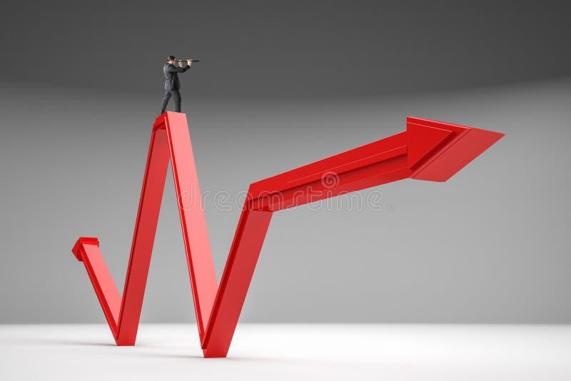 De groei, leiding en toekomstig concept royalty-vrije stock foto