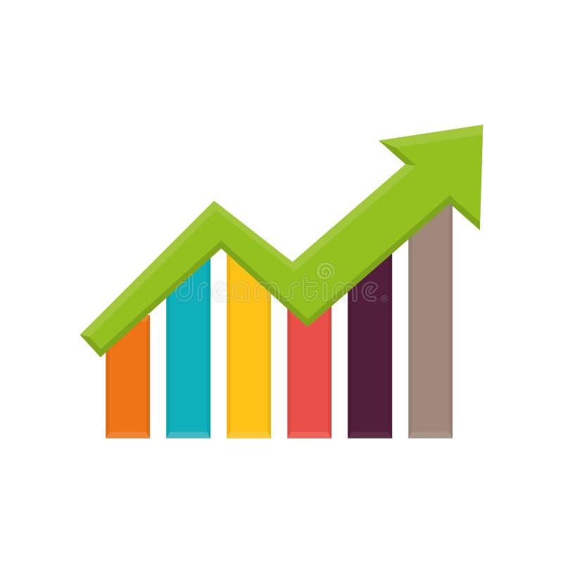 De groei op statistieken royalty-vrije illustratie