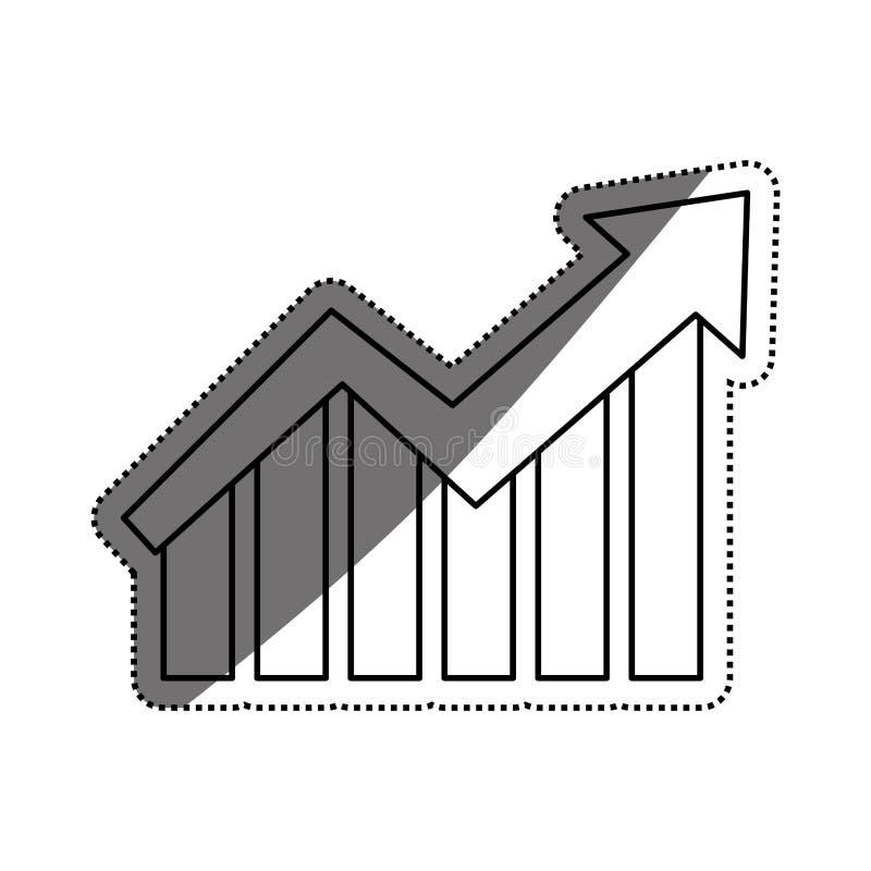 De groei op statistieken vector illustratie