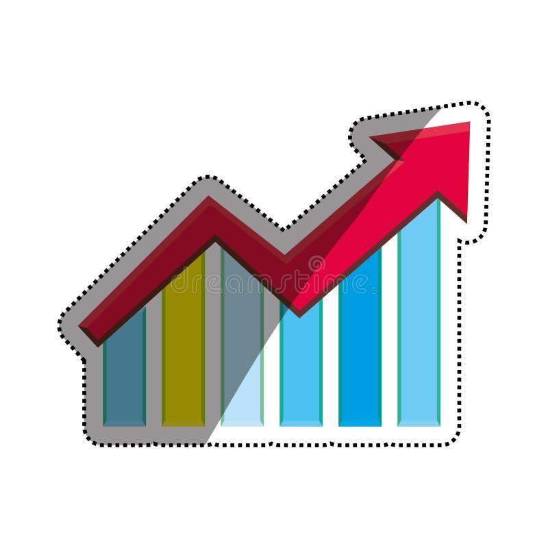De groei op statistieken stock illustratie