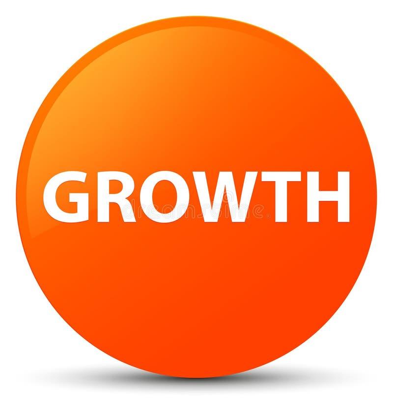 De groei oranje ronde knoop stock illustratie