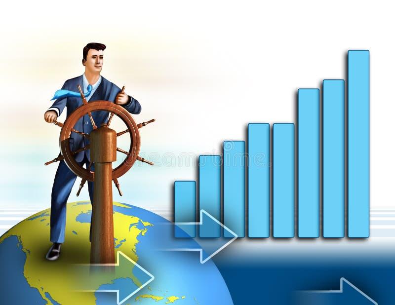 De groei van de economie vector illustratie
