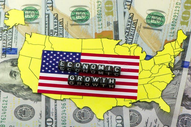 De groei van de economie van de V.S. royalty-vrije illustratie