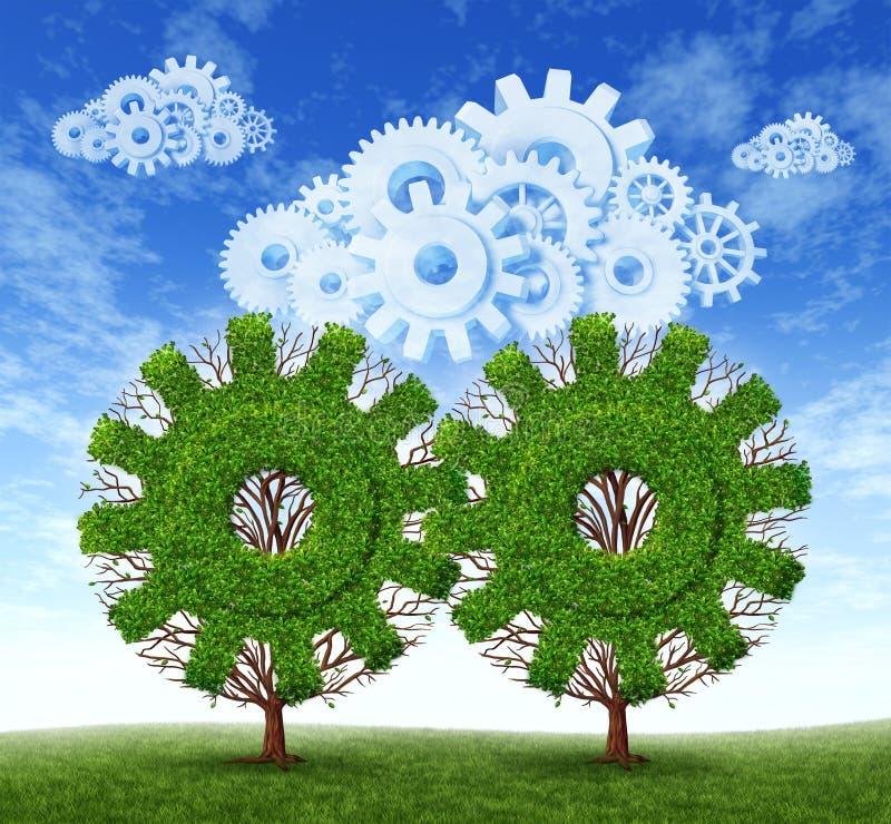 De Groei van de Gegevensverwerking van de wolk stock illustratie