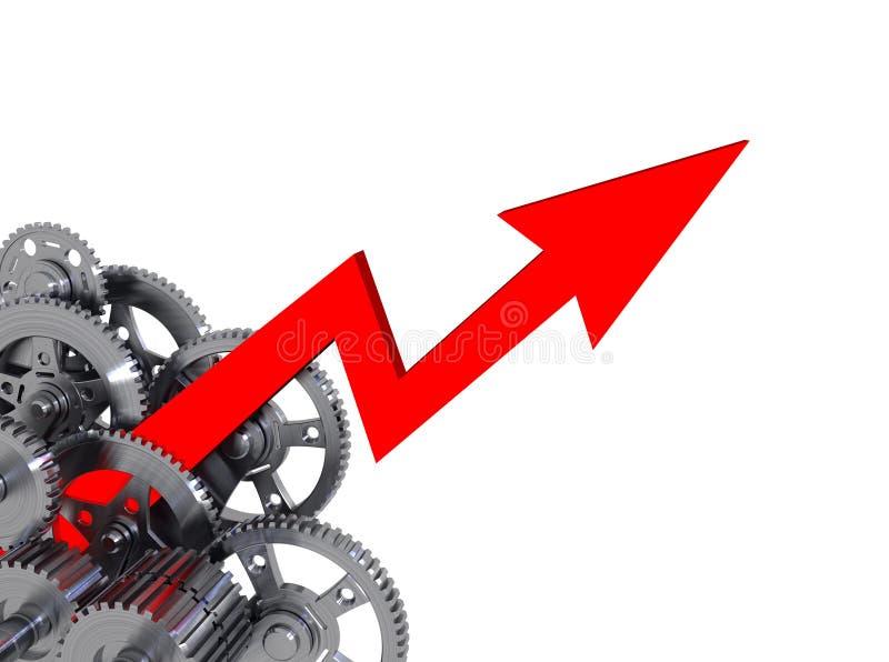 De Groei van de industrie vector illustratie