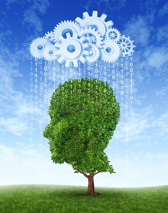 De Groei van de Intelligentie van de Gegevensverwerking van de wolk royalty-vrije illustratie