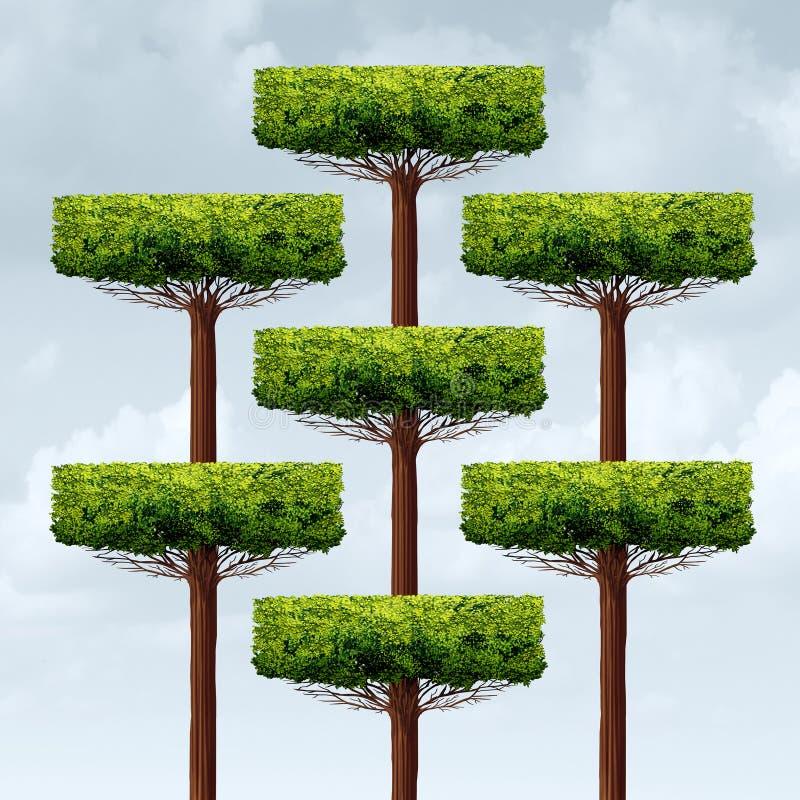 De Groei van de organisatiestructuur royalty-vrije illustratie