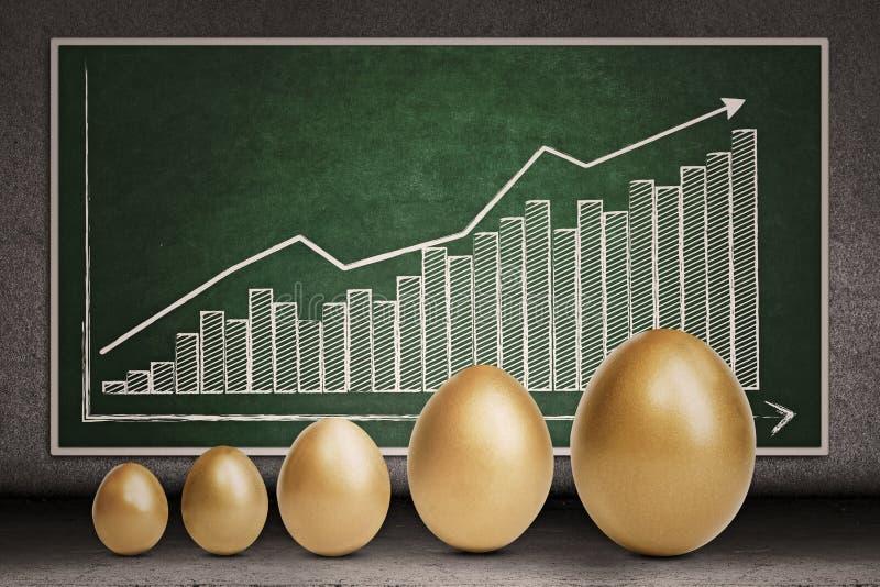 De groei van de winst op bord stock illustratie