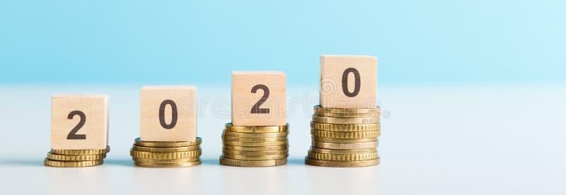 De groei van financiële resultaten en het verlagen van inflatiecijfer stock afbeelding