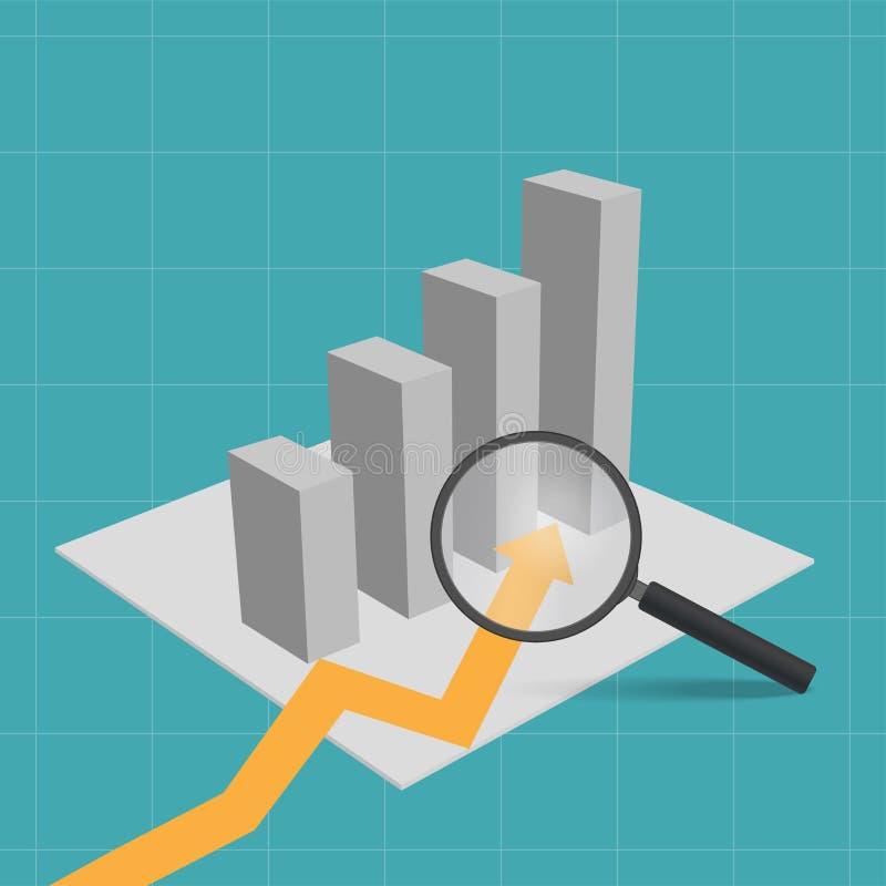 De groei van financiële zaken stock illustratie