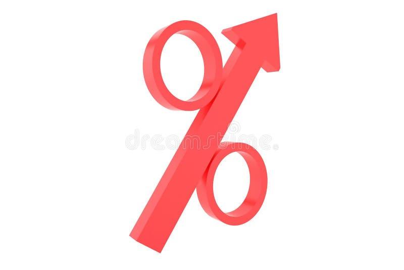 De groei van het percentage royalty-vrije stock afbeeldingen
