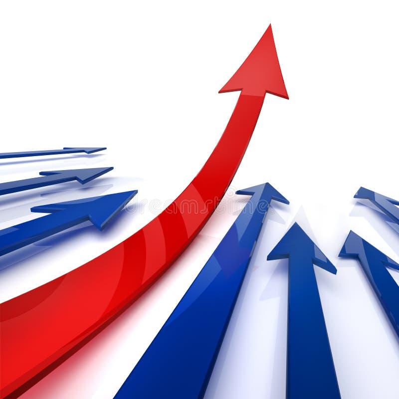De groei van uw zaken. 3d. royalty-vrije illustratie