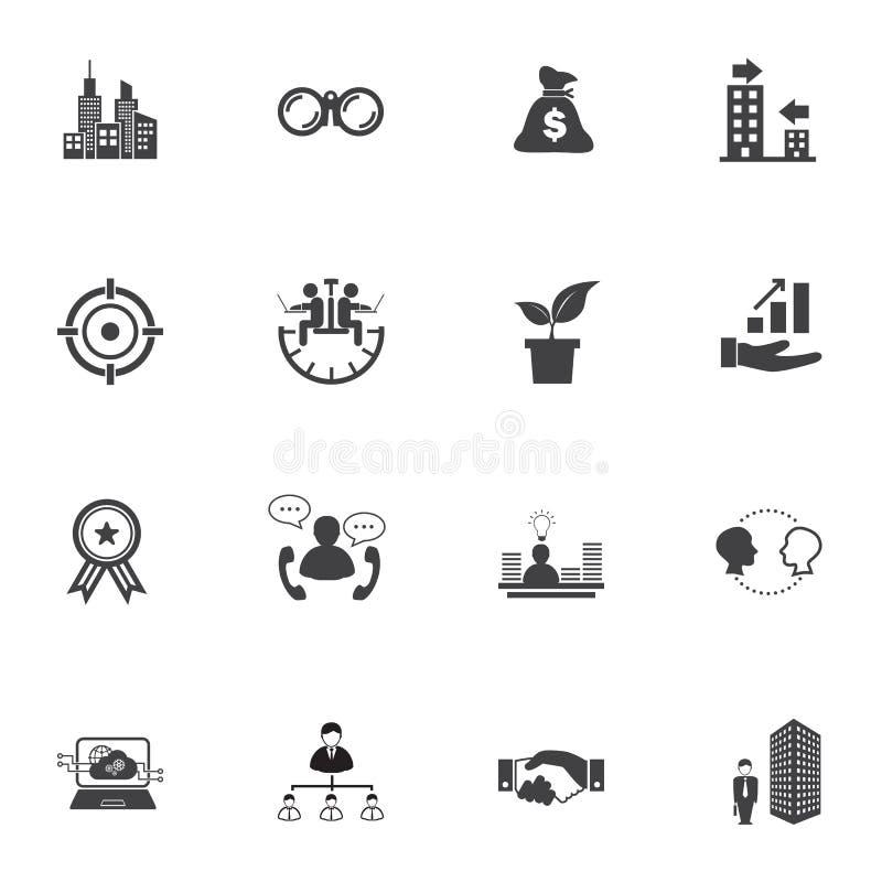 De groei van zaken, de reeks van het Bedrijfsfinanciënpictogram royalty-vrije illustratie