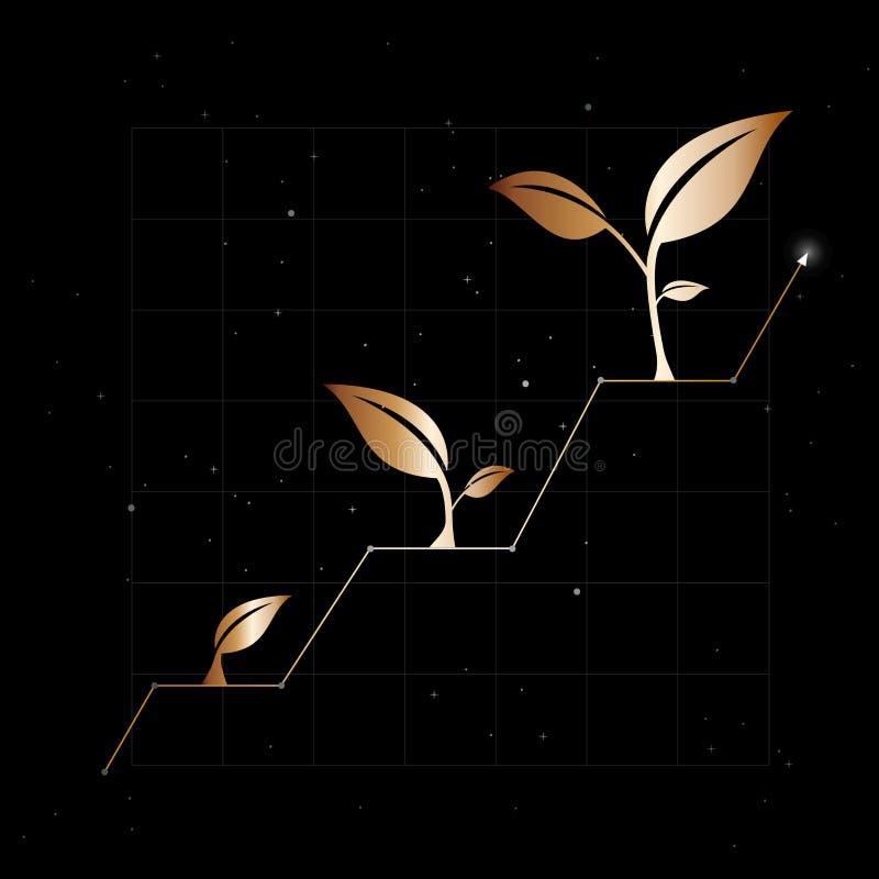 De groei van zaken of economie Elegante Achtergrond royalty-vrije illustratie