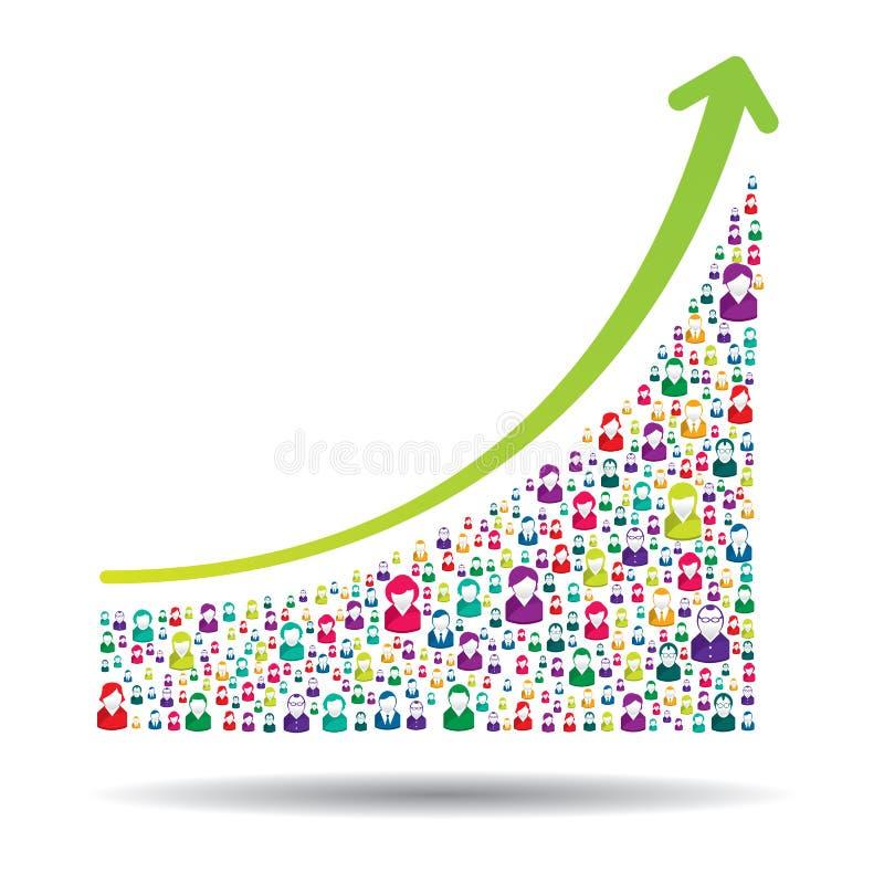 De groeigrafiek vector illustratie