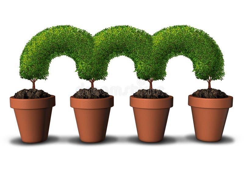 De groeinetwerk royalty-vrije illustratie