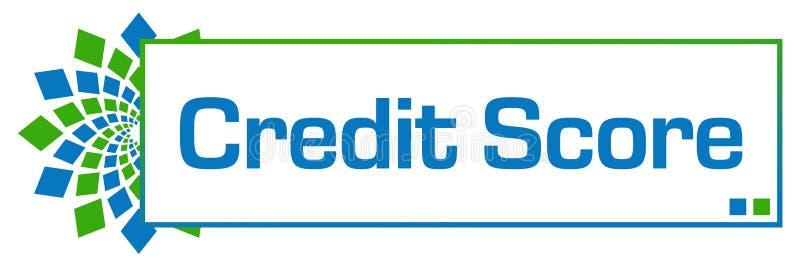 De Groenachtig blauwe Cirkelbar van de kredietscore vector illustratie