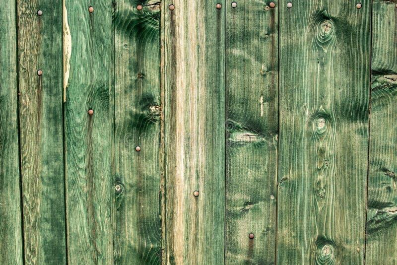 De de groene Achtergrond en Textuur van Muurplanken Uitstekende Lege Groene Oppervlakte stock afbeeldingen