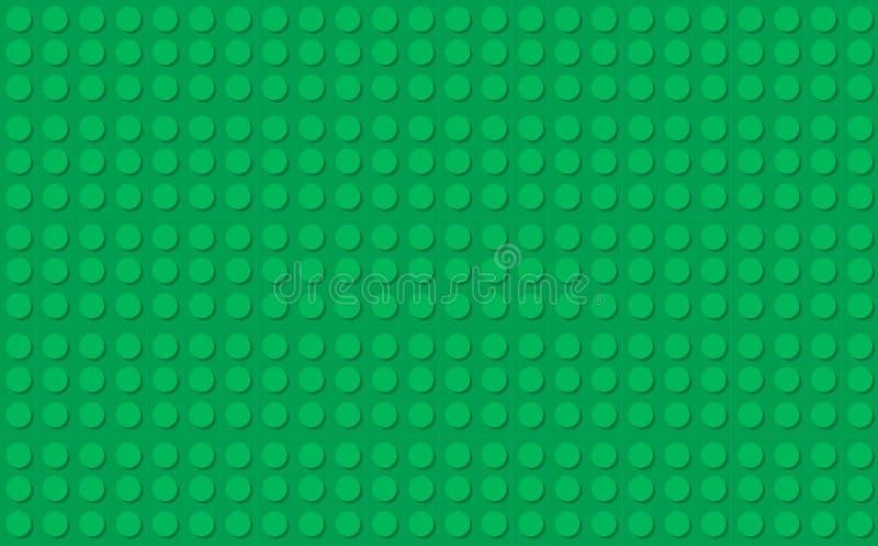 De groene achtergrond van de bouwsteenstijl stock illustratie