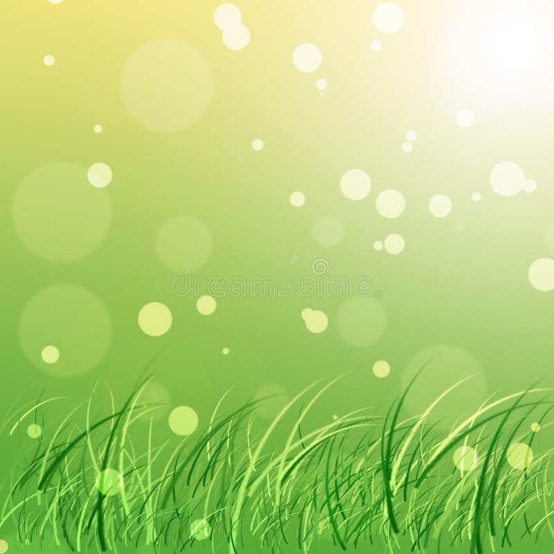 De groene Achtergrond van de Aard stock illustratie