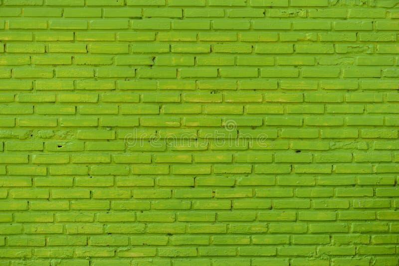 De groene Achtergrond van de Bakstenen muur stock foto's