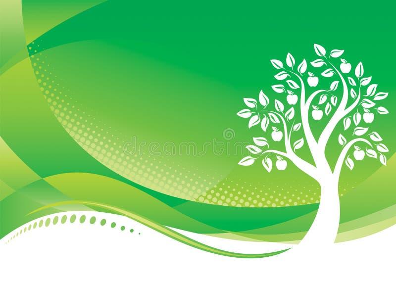 De groene achtergrond van de Boom royalty-vrije illustratie