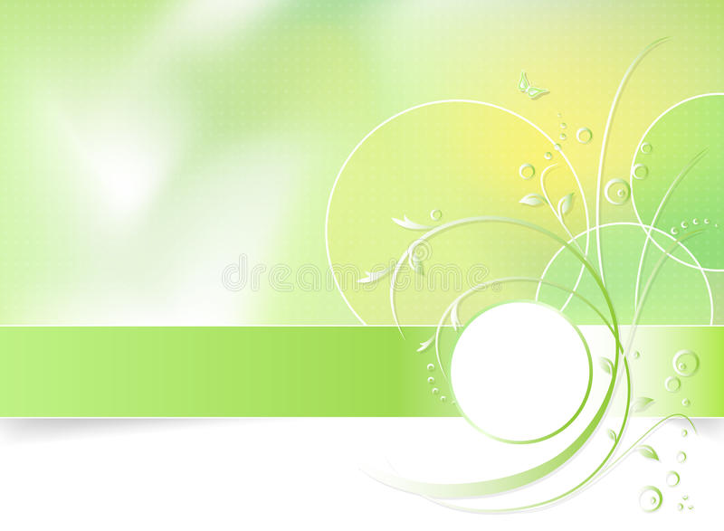 De groene achtergrond van de de lentebloem vector illustratie