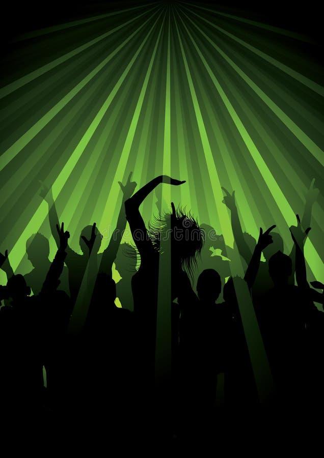 De groene Achtergrond van de Disco royalty-vrije illustratie