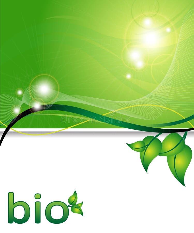 De groene achtergrond van de ecologie vector illustratie