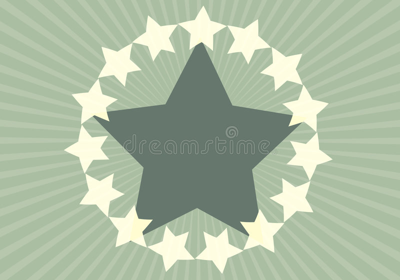 De groene Achtergrond van de Ster royalty-vrije illustratie