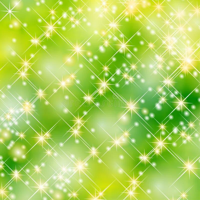 De groene achtergrond van de sterrenpartij