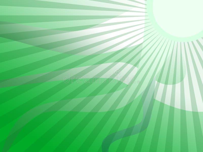 De groene Achtergrond van de Strepen van de Zon