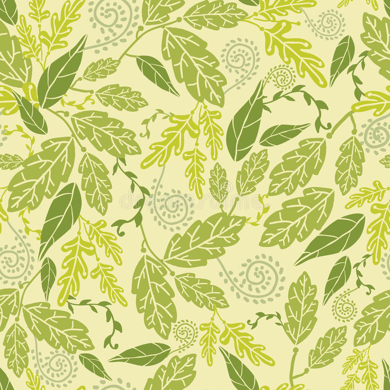 De groene Achtergrond van het Bladeren Naadloze Patroon stock illustratie