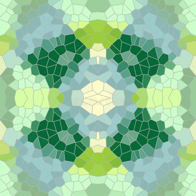 De groene achtergrond van het mozaïekpatroon stock illustratie