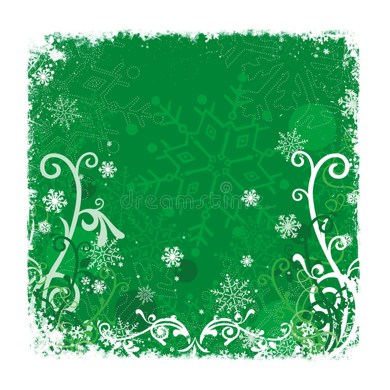 De groene Achtergrond van Kerstmis royalty-vrije illustratie