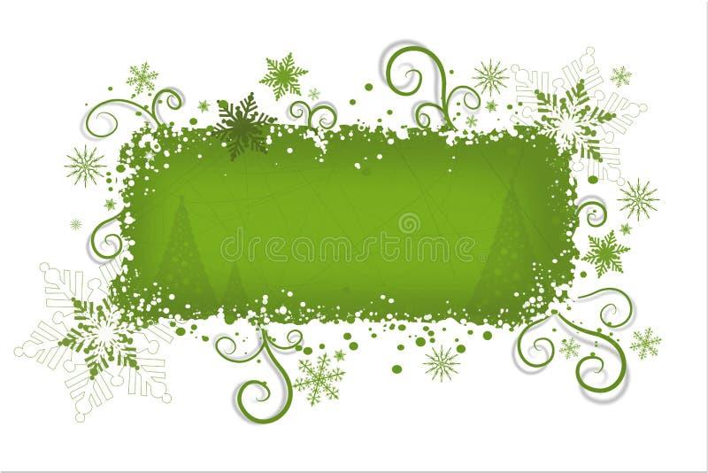 De groene achtergrond van Kerstmis   stock illustratie