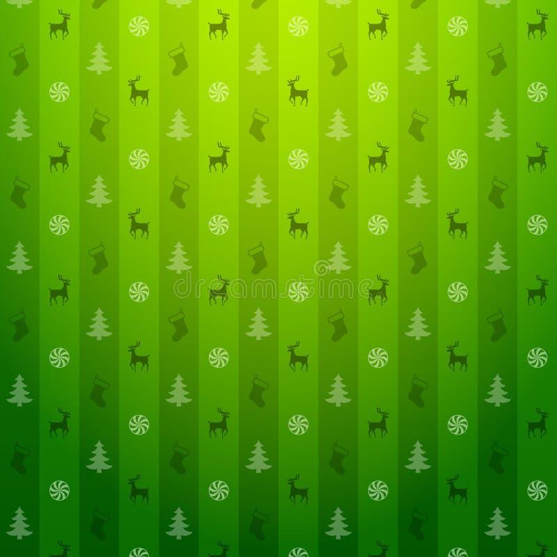 De groene achtergrond van Kerstmis vector illustratie