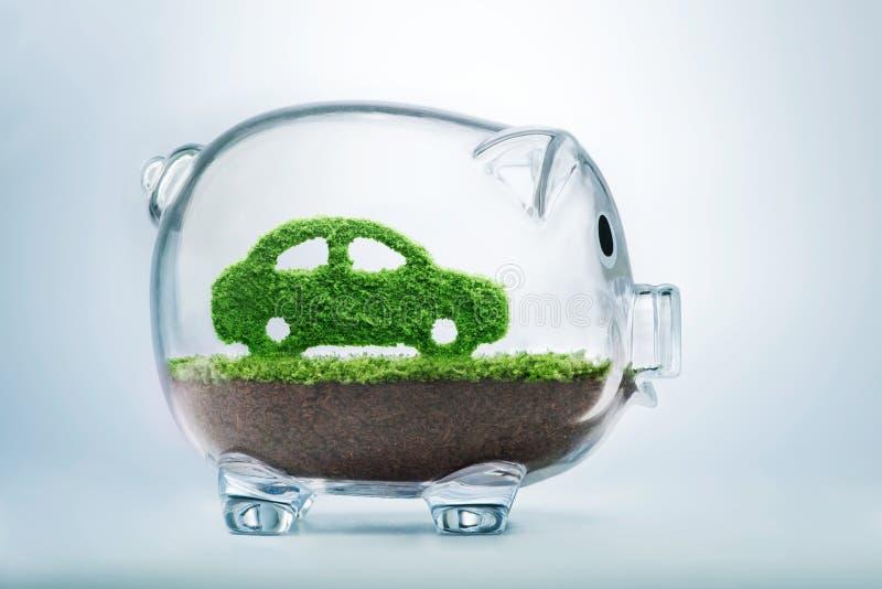 De groene Auto van de Energie stock afbeeldingen