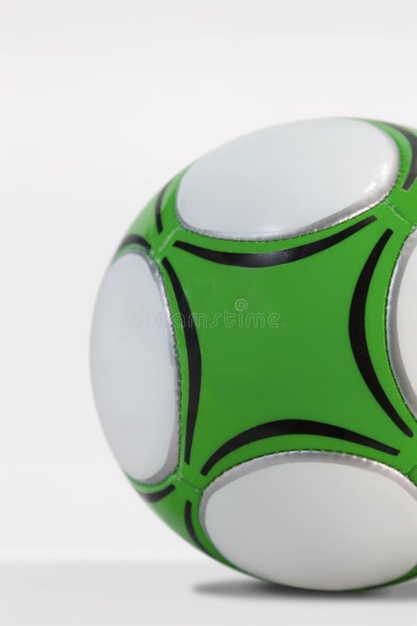 De groene Bal van het Voetbal royalty-vrije stock foto's